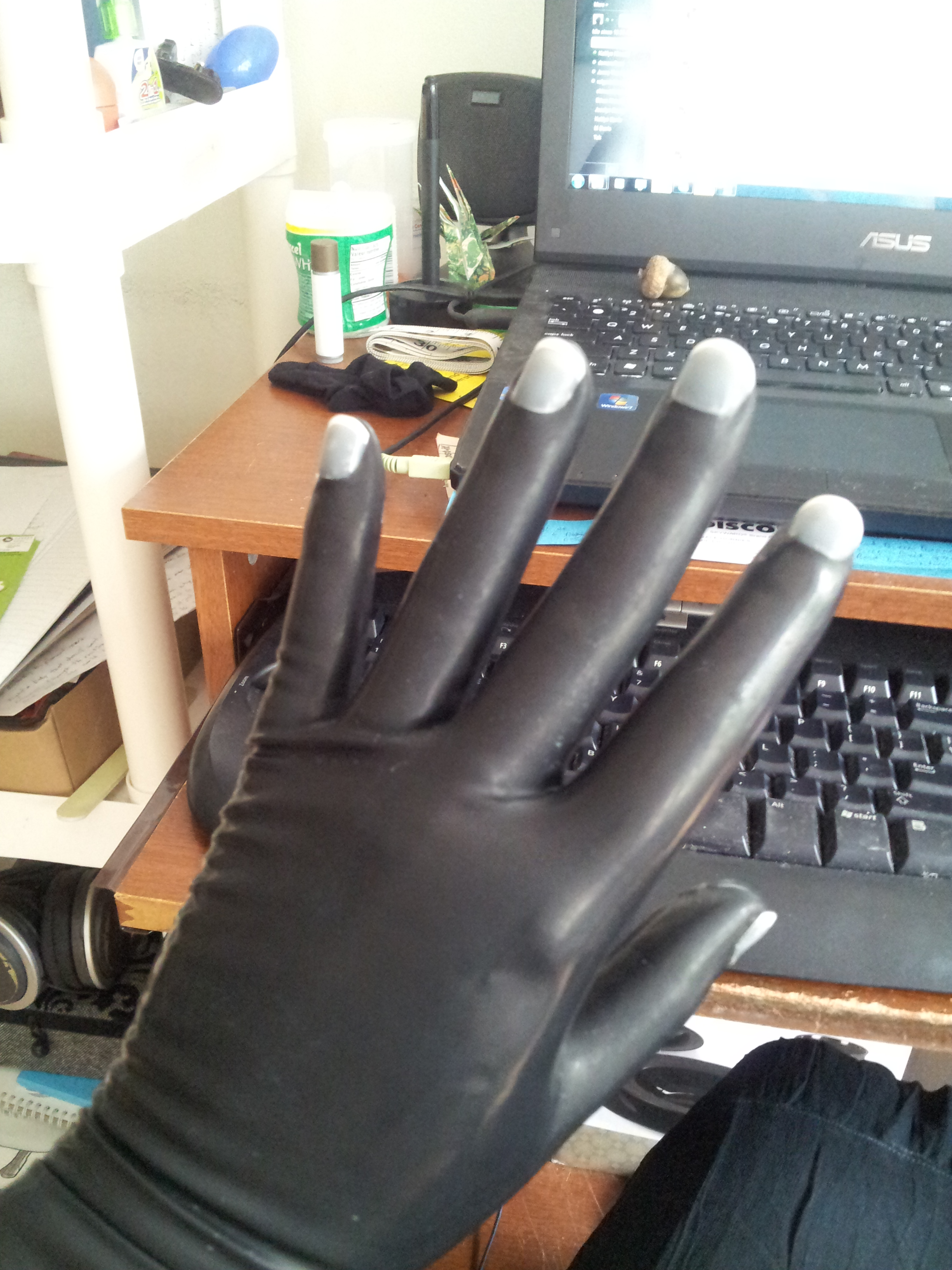 Black gloves with nails - Now We Trim And File The Nails To The Desired Shape Be Careful Of The Latex Gloves With Your Clippers Scissors File You Don T Want To Put Holes In Them