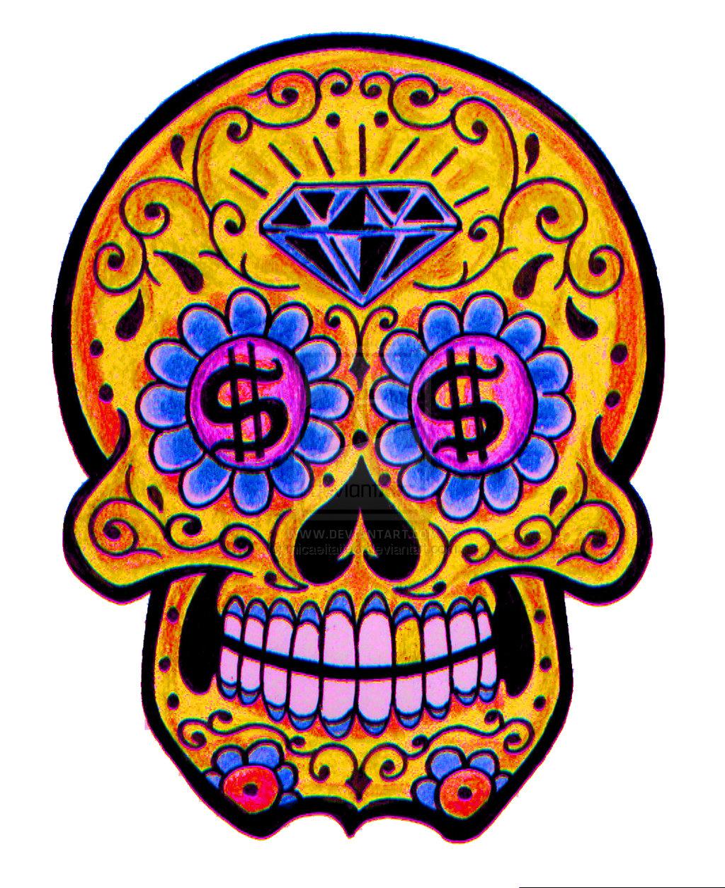 Dia De Los Muertos Skull Paint For Men Inkblade Studios